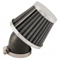 Kovový závodní vzduchový filtr 35 mm nakloněný o 45 stupňů