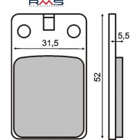 Brzdové destičky pro Malaguti F12 Phantom, Crosser, Simson S 53, S 83
