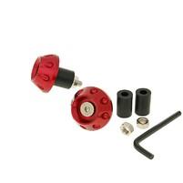 Koncovka řidítek 13,5 / 17,5 mm (včetně adaptéru) - červená