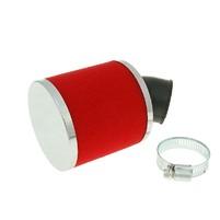Vzduchový filtr 28mm/35mm 45° červený