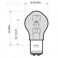 Žárovka bílá 12V 35/35W BA20D
