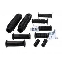 Sada gumových dílů, řadicí a startovací  páka, řídítka a vidlice 10 kusů pro Simson S50, S51, S53, S70, S83