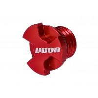 Zátka pro plnění oleje VOCA CNC červená pro Minarelli AM, Generic, KSR-Moto, Keeway, Motobi, Ride, 1E40MA, 1E40MB