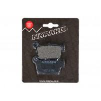 Brzdové destičky Naraku organické pro Aprilia MXV, SXV, Fantic, GasGas, Kawasaki KX, Sherco, Suzuki RM-Z, TM, Yamaha YZ, WR