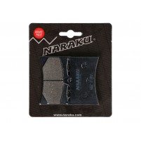 Brzdové destičky Naraku organické pro Aprilia AF1 Futura 125, RS 125