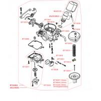Karburátor a náhradní díly karburátoru pro GY6 139 QMB/QMA 50 ccm 4T