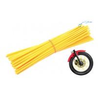 Ozdobný návlek drátu kola 235 mm žlutý 36 kusů