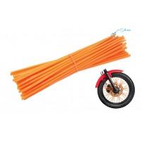 Ozdobný návlek drátu kola 235 mm oranžový 36 kusů