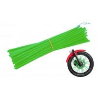 Ozdobný návlek drátu kola 235 mm zelený 36 kusů