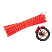 Ozdobný návlek drátu kola 235 mm červený 36 kusů