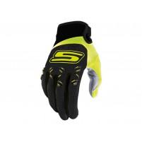 MX S-Line rukavice, homologované, černé / fluo-žluté