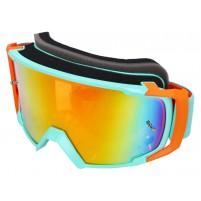 MX brýle S-Line Scrub modrá / oranžová - Iridium oranžová