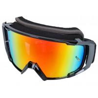 MX brýle S-Line Scrub černá / šedá - Iridium žlutá