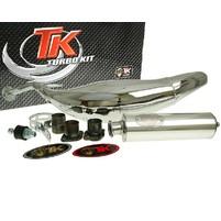 Výfuk Turbo Kit Carreras 80 chromovaný pro Derbi D50B0, EBE, EBS