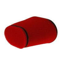 Vzduchový filtr Racing double oválný kuželový 28-55mm červený