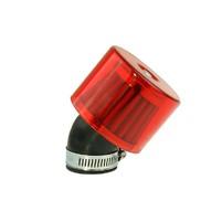 Vzduchový filtr průměr 35mm 45° - červený